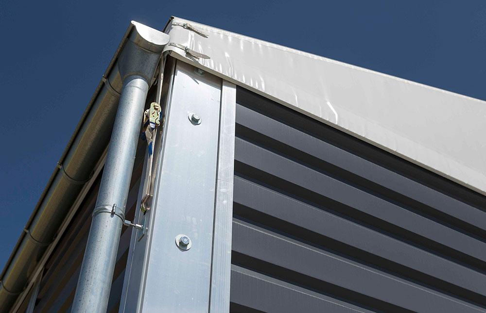 Commercial Storage Building Guttering