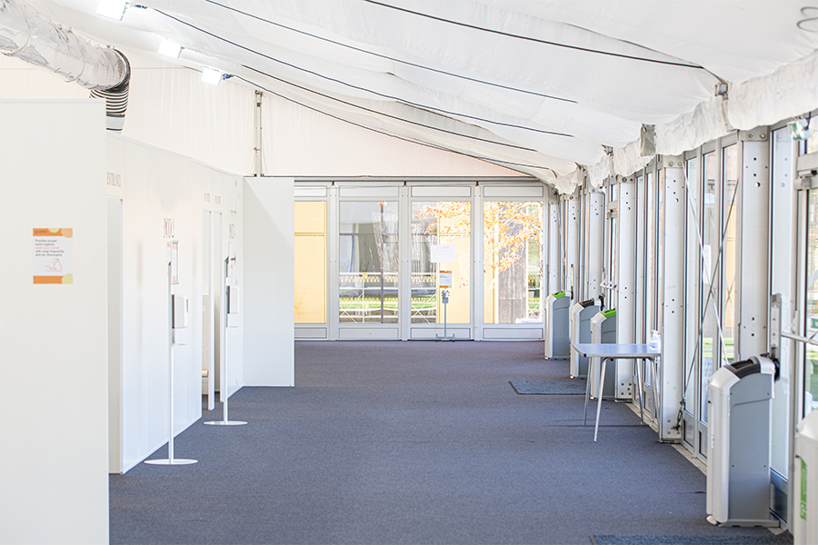 medical centre marquee